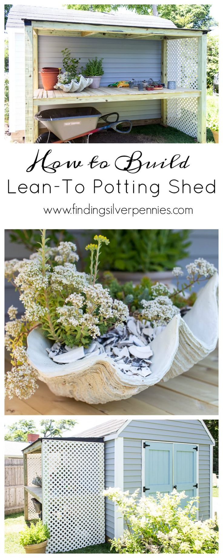 How to Build a Lean-To Potting Bench I Finding Silver Pennies #sponsored