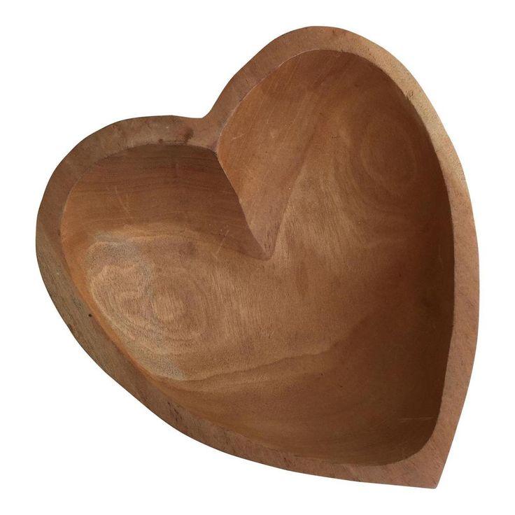 Delightful Vintage Carved Wood Heart Shaped Bowl  | eBay