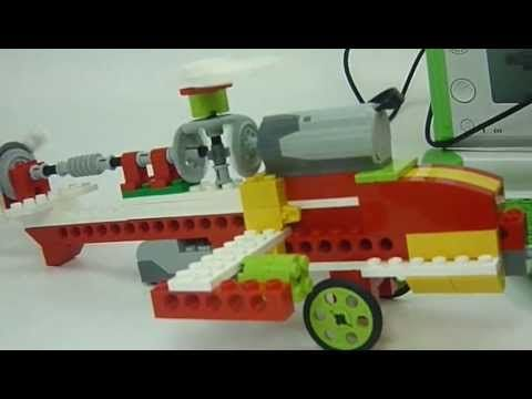 Aula Innovación AIP-CRT: Robótica WEDO LEGO - Helicoptero Tipo APACHE - YouTube