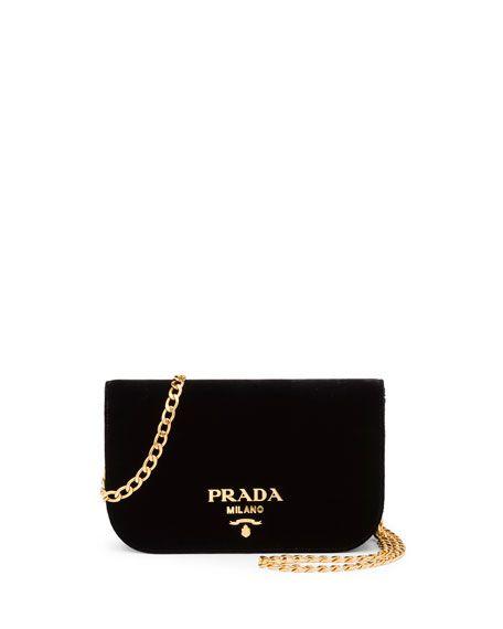 4eaea9f8dacf5a Small Velvet Flap Crossbody Bag by Prada at Neiman Marcus | I will ...