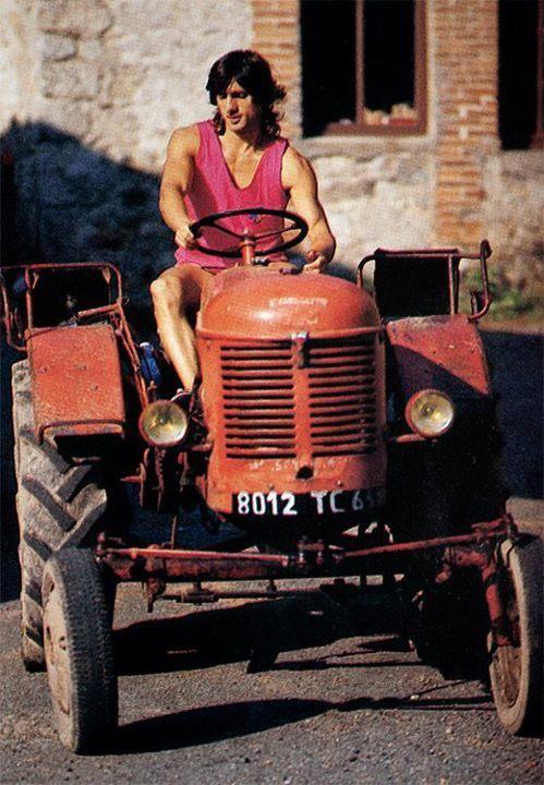 Patrick Berhault at home. Auvergne, France. 1985