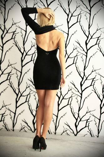 $89 Black Sexy Dress Famous Greek Fashion Designer RRP 399$ | eBay
