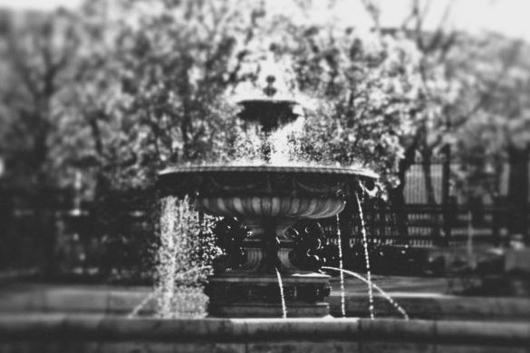 FINEARTSEEN - Fountain by Svetlana Neskovska. Beautiful black and white photography fine art print of a water fountain. Available on FineArtSeen - The Home Of Original Art. Enjoy Free Delivery with every order. << Pin For Later >>