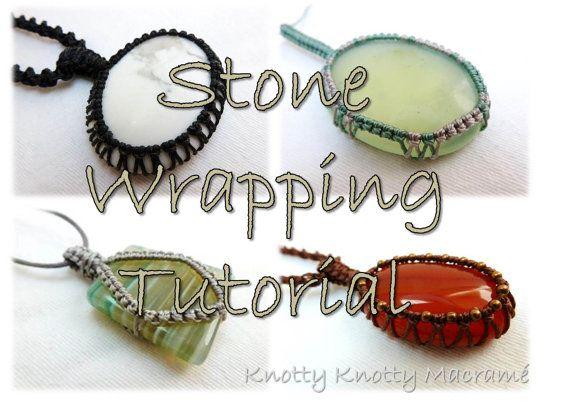 Lernprogramm Macrame Stein Wrapping / von KnottyKnottyMacrame