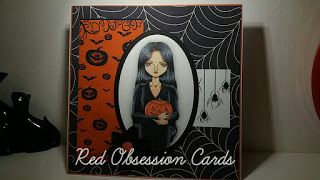 RED OBSESSION CARDS: Halloween