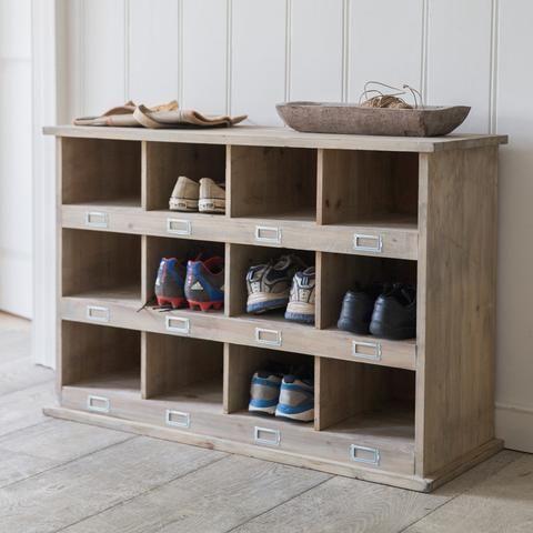 Rustic Spruce Chedworth Hallway 12 Shoe Locker - The Farthing  - 1