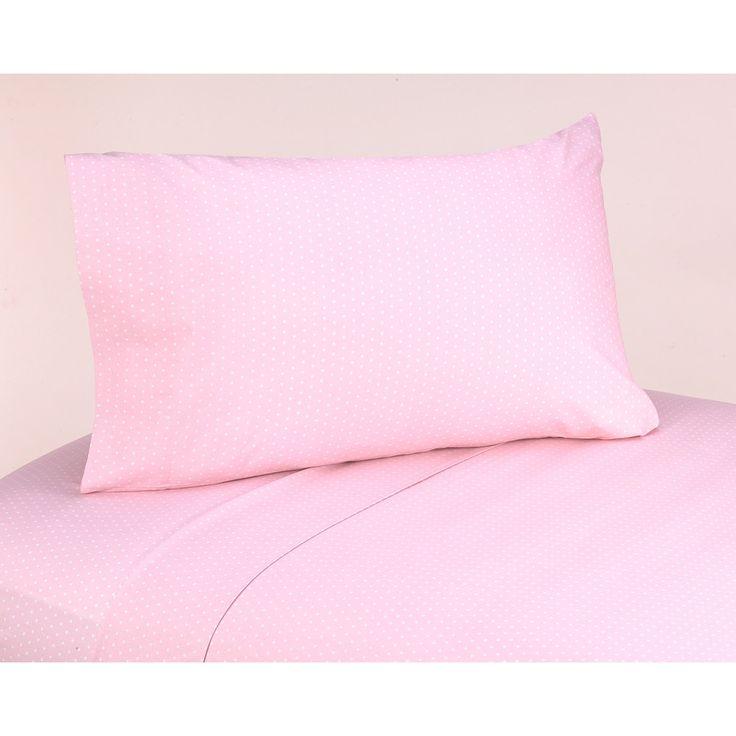 Sweet JoJo Designs 200 Thread Count Mod Dots Bedding Collection Pink Cotton Sheet Set