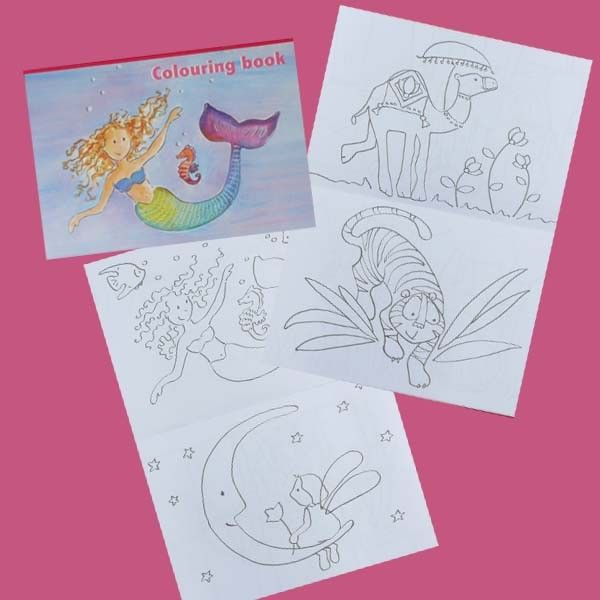 Livre de coloriages petit format Sirène - CREAKIT Loisirs Créatifs