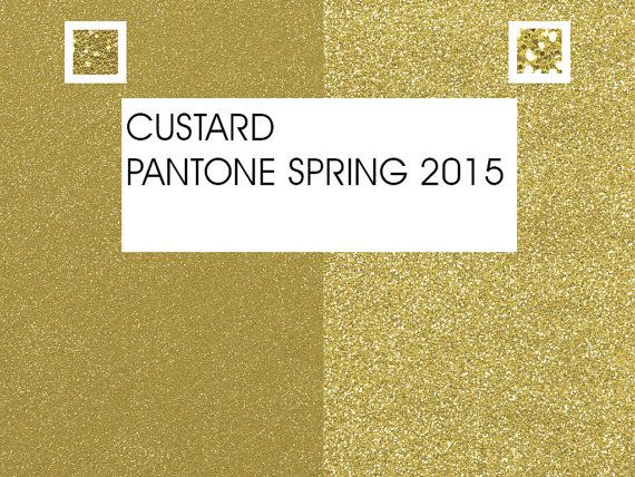 Glitter Paper PANTONE COLORS 2015 Custard 2  2 by Fashiontelligent