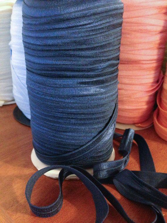5/8 FOE Fold over elastic Navy Blue US Seller by FeeFeesSplendor