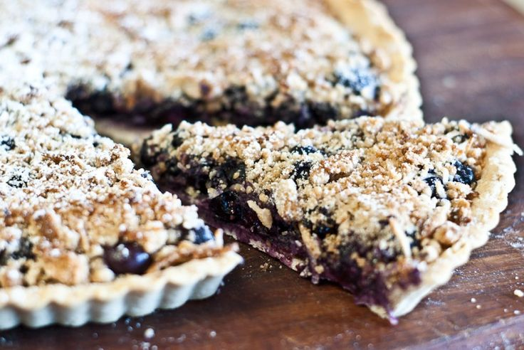 Blueberry and Almond Tart - gluten-free and low FODMAP recipe