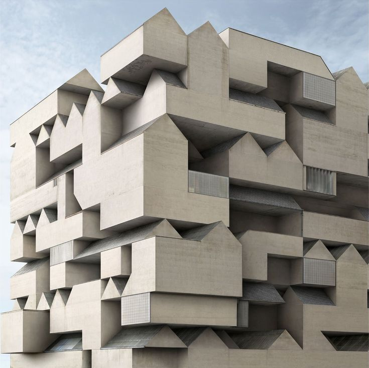 Le Corbusier Cité Radieuse - I think that this could be done with clay ... It gave me an idea to make something like one of those cubes you fit pieces together with like a puzzle I think that would be difficult but and interesting project