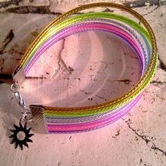 Fils scoubidou multicolore / bracelet my little rainbow