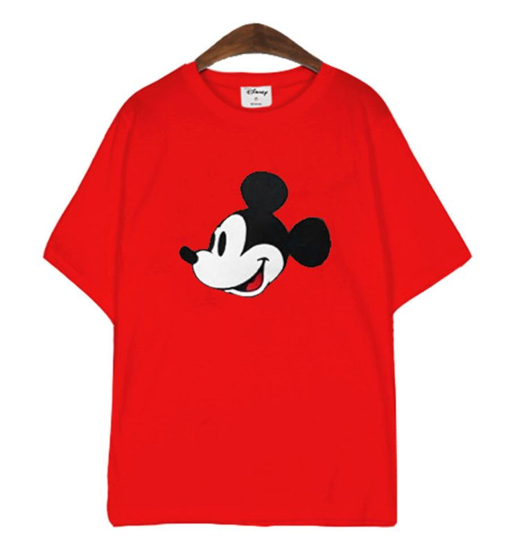 New Women Disney Mickey Mouse Character Graphic Cotton Cute T-shirt_4 Colors #MIRINEco