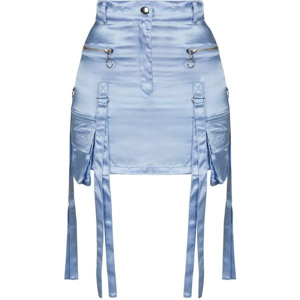 Satin Octopus Skirt by Illustrated People (1.283.480 IDR) ❤ liked on Polyvore featuring skirts, blue, topshop, blue skirt, topshop skirt und satin skirt
