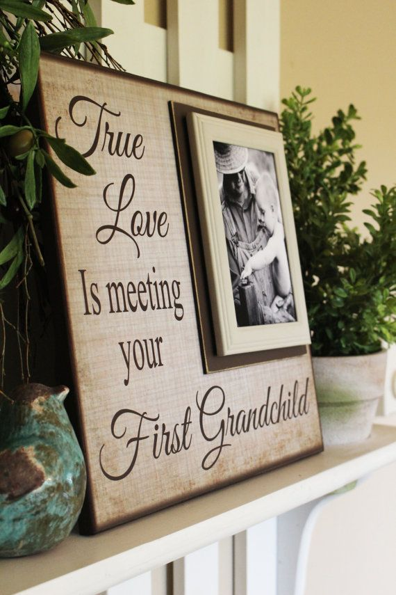 New Grandparent Gift Picture Frame For by MemoryScapes on Etsy                                                                                                                                                                                 More