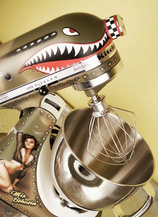 Best idea ever!: Nose Art, Custom Kitchens, Aid Mixers, Kitchenaid Custom, Kitchens Appliances, Hot Rods, Pin Up, Bomber Planes, Kitchens Aid Decals