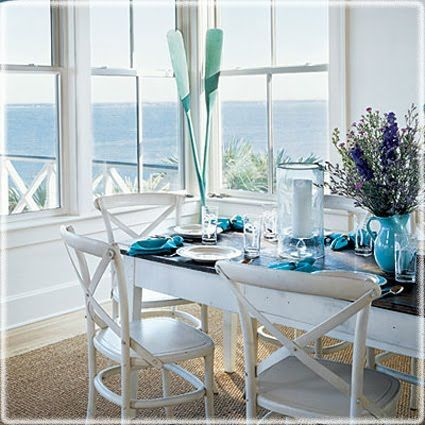 57 Best Coastal Dining Rooms Images On Pinterest  Dinner Parties Endearing Coastal Dining Room Sets Inspiration