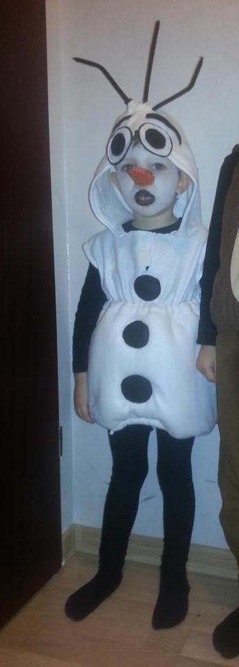 """Karnawałowy strój Olaf z """"Krainy Lodu"""" / Olaf from """"Frozen """" Carnival costume"""