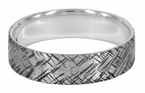 Spinless 6mm with medium chopped pattern in sterling silver - $250