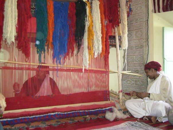 Carpet making, Morrocco