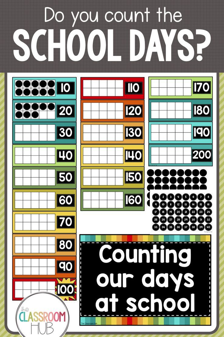 Do you count the school days with your students? Maybe you celebrate 100 days of school. Using this wall chart, you can track the school days throughout the year and reinforce number concepts at the same time. Click on the image to find out more.