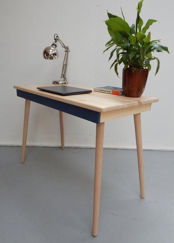 Computer Desk Writing Desk Desk With Drawer Reclaimed Wood Desk Industrial Desk Mid Century Modern Vintage Desk Desk With Drawers Reclaimed Wood Desk