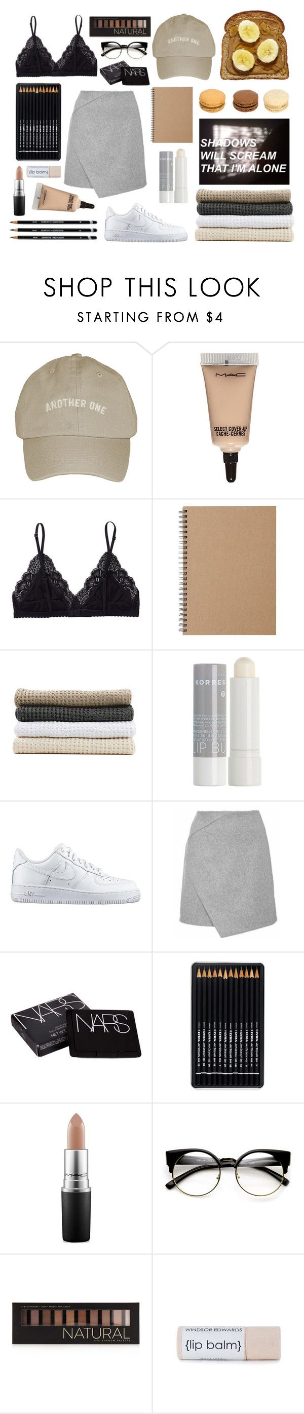 """"""":Shadows in the night:"""" by bullettpatch ❤ liked on Polyvore featuring MAC Cosmetics, Talula, Muji, Abyss & Habidecor, Korres, NIKE, NARS Cosmetics and Forever 21"""