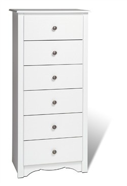 Tall White Chest of Drawers