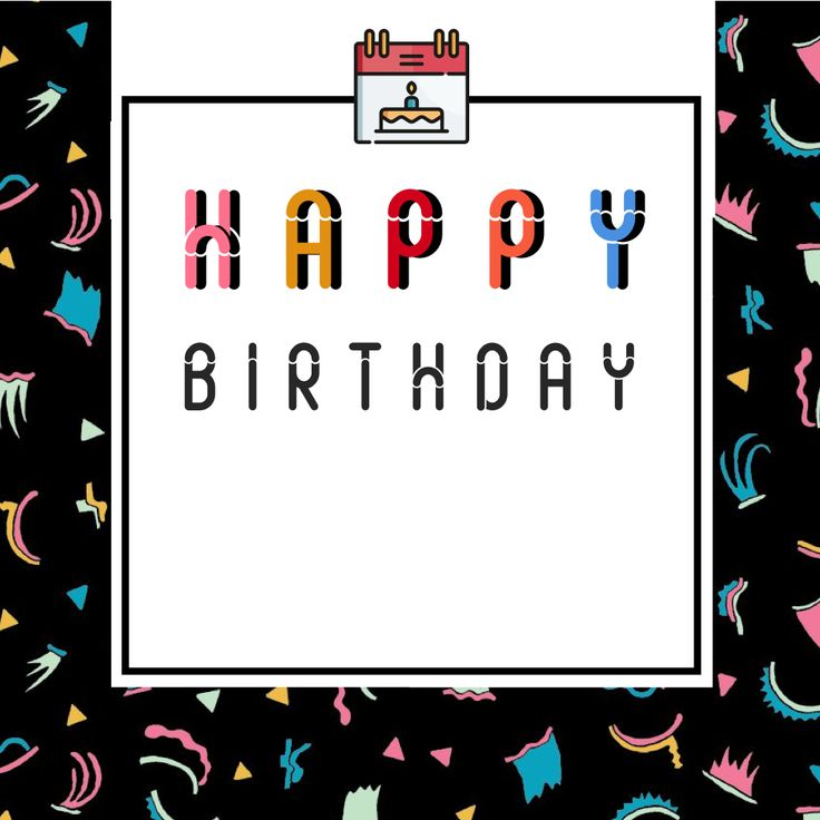 Say Happy Birthday to your loved ones (convenient blank space provided). #happybirthday #ideas #card #funky #90s #slot #font @oozefina