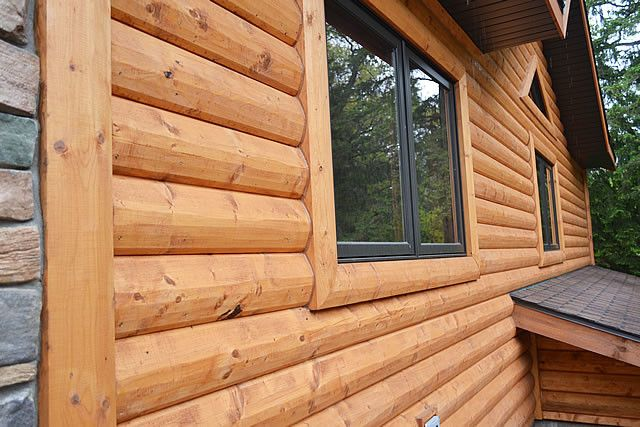 Best Of 23 Images Vinyl Siding That Looks Like Cedar Planks In 2020 Log Cabin Siding Log Cabin Vinyl Siding Wood Siding Exterior