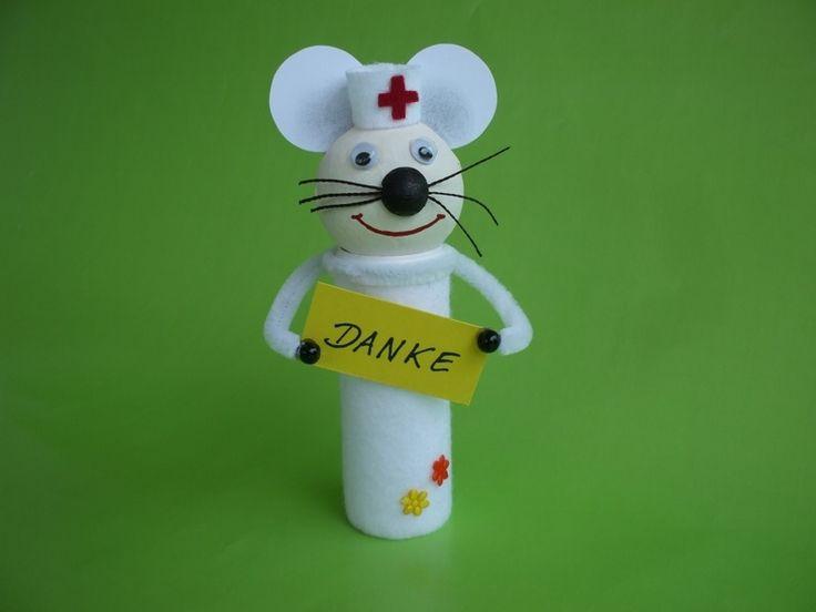 """Geldgeschenk+Mäuse,+Krankenschwester+""""Mausi""""+von+Geld,+Gutschein,+Schmuck+&+Co.+-+Originell+verpackt+auf+DaWanda.com"""