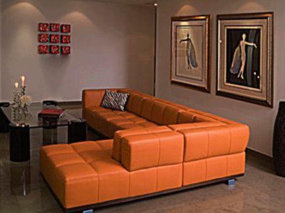 Warm Decorating Ideas for Rainy Fall and Winter  Orange SofaOrange  173 best Gray   Orange Home Decore images on Pinterest   Coffee  . Orange Living Room Furniture. Home Design Ideas