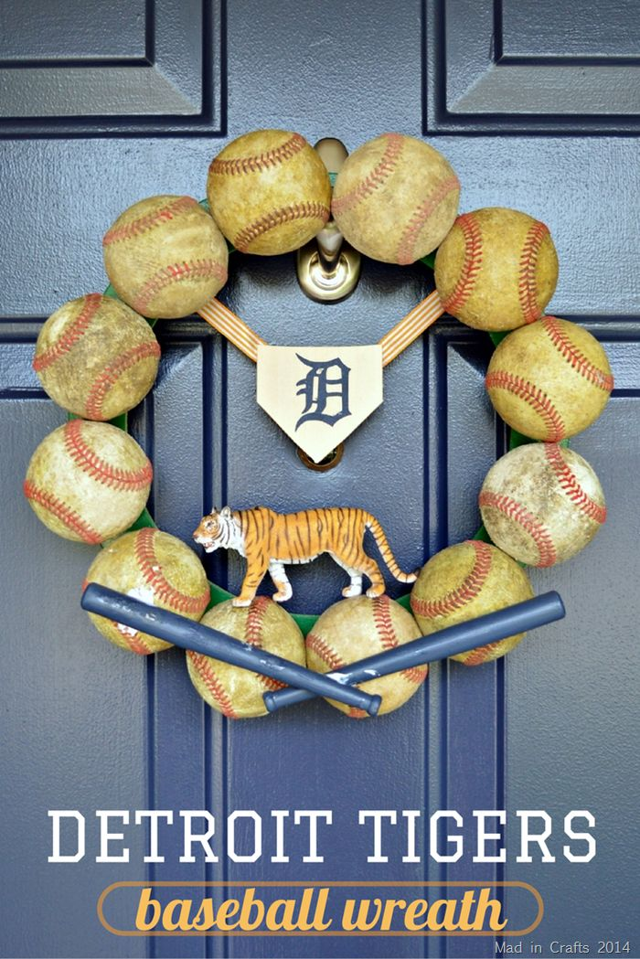 How to Make a Detroit Tigers Baseball Wreath