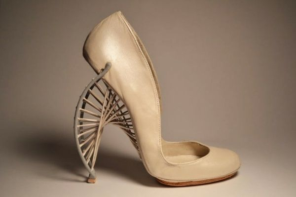 3D Printed Shoe - cutting edge footwear design; architectural heels // Marla Marchant