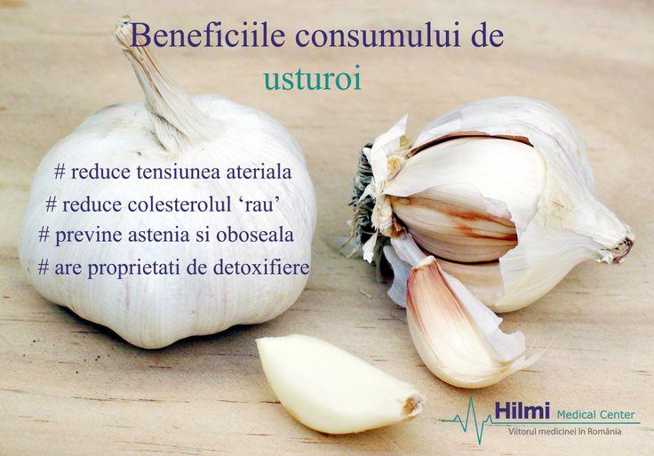 Pe langa faptul ca este un antibiotic natural, consumul de usturoi aduce multe alte beneficii sanatatii! Afla din imagine care sunt acestea!