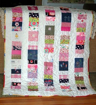 Love the idea of using the sentimental baby clothes in a quilt.