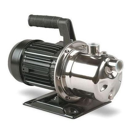 Simer 2825SS Portable Utility Transfer Sprinkler Pump, 1HP, Stainless Steel (Silver)