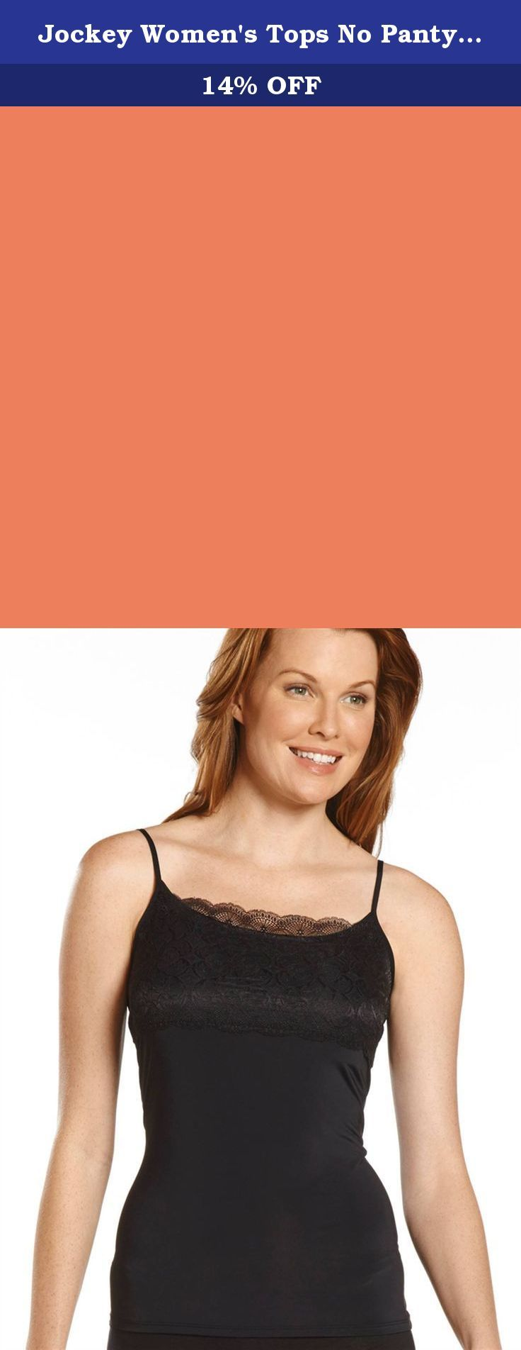 Jockey Women's Tops No Panty Line Promise Tactel Nylon Lace Camisole, jewel red, L. No Panty Line Promise® seams and a feminine lace detail along the bust make this cami a wardrobe must-have. The silky smooth fabric blend with a touch of stretch glides gently underneath your favorite tops and sweaters. Cami featured adjustable straps for a fit that stays put all day.