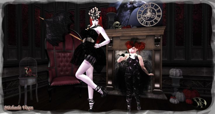 https://flic.kr/p/LXAuLR | Michaela - Gotchic Halloween - Scene 2 | Gothic Halloween - Scene 2  Location: Vixen's Creative Studios Photographer & Model: Michaela Vixen (VampBait69) Toddler Model: Elizane Vixen Set Design & Creation: Michaela Vixen (VampBait69)  Vixen's Log - More Info & Credits Here