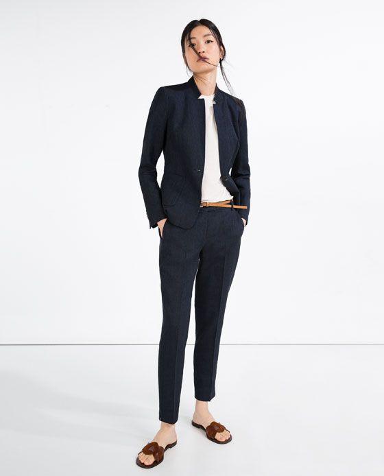 b2737795 Image 1 of LINEN TROUSERS WITH BELT from Zara | What to Wear | Linen  trousers, Trousers women, How to wear
