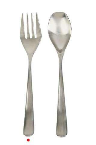 Large Matte Serving Forks and Spoons