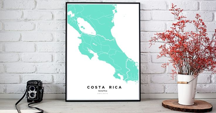 Costa Rica | Custom Map Maker – Make Your Own Map Poster Online - YourOwnMaps
