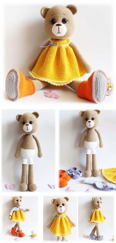 Amigurumi Bear Maya #amigurumi #amigurumipattern #crochettoy ...