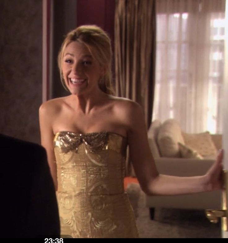 Serena Gossip Girl Cotillion dress gold - Gossip Girl Fashion File ...