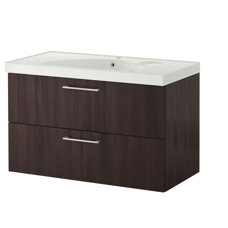 godmorgon sink cabinet with 2 drawers blackbrown blackbrown