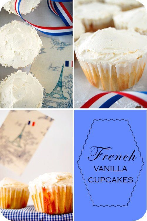 { French Vanilla Cupcakes :: Happy Bastille Day }
