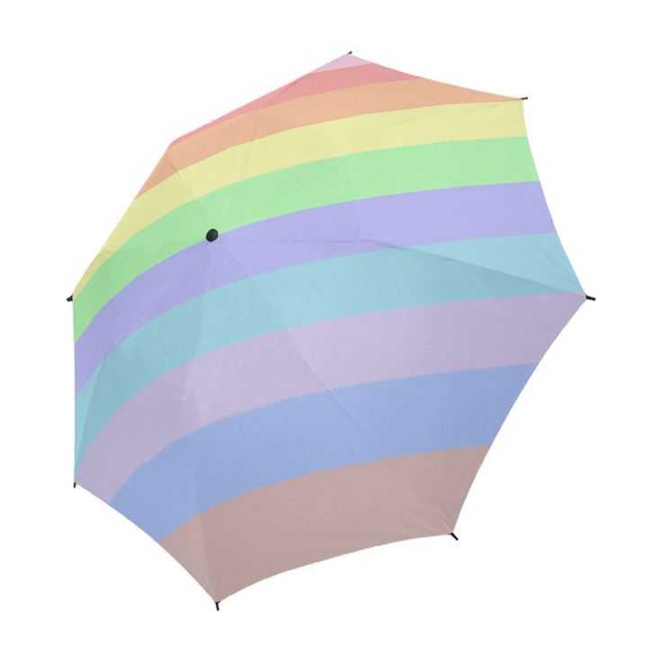 Pastel Rainbow Stripes Umbrella by Khoncepts