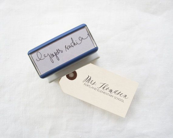 Personalized Teacher Stamp Teacher gift Custom by papersushi