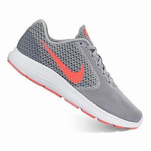 new products efae9 6f050 Nike Womens Revolution 3 Running Shoe in Wolf GreyHyper Orange